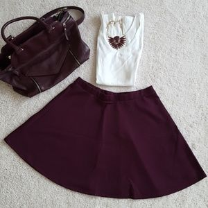 Plum Textured Skirt